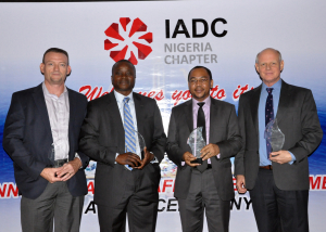 Nigeria Safety Awards winners. Left to Right – Mark Shaw, Indigo Drillingn Limited; Ote Enaibe, Depthwize Nigeria Limited; Chijioke Akwukwuma, Oando Energy Services; Dick Verhaagen, Pacific International Drilling West Africa Limited.