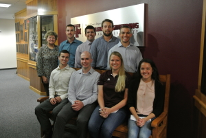 Texas A&M University students Trey Tomlin, Blake Hermes, Clifton Harlin,Hunter Drozd, Clayton Cox, Andrew Wlazlo and Courtney Brown receive scholarships.