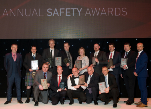 IADC North Sea Chapter Safety Awards Winners and Runners-up 2016. Back row: Ivor McBean, Diamond Offshore (Co-Chair); Alistair McDonald, Odfjell Drilling; Ole Maier, Odfjell Drilling; Henrik Hundebol, Maersk Drilling; Ann Johnson, Blaze Manufacturing Services; Ally Malcolm, Awilco Drilling; Julian Hall, Enso; Jools Coghill, Ensco and Gary Holman, Awilco Drilling (Co-Chair) FRONT ROW: Matt Brodie, Noble Drilling; Stuart Sutherland, KCA Deutag; Geoff Polson, Stena Drilling; Iain Mitchell, Stena Drilling and Ray Taylor, Archer