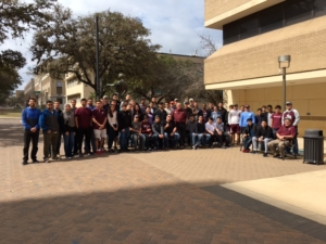 Texas A&M petroleum engineering students complete WellSharp training in February.