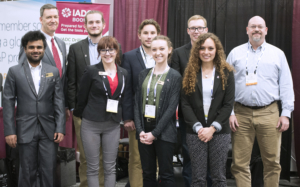 Students from the IADC Student Chapter at Missouri S&T were invited to visit and experience the 2018 IADC/SPE Drilling Conference, 6-8 March in Fort Worth, Texas. Back row from left are Mike DuBose, Tyler Charles, Grand August, Dalton Buchanan and MS&T Professor Rickey Hendrix. Front row from left are Vishwaksen Reddy, Tessa Mortensen, Katie Miller and Megan Lopez. Mr DuBose is IADC VP of International Development and serves as staff liaison for IADC's student chapters.