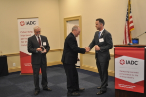 IADC President Jason McFarland presents Representative Steve Scalise (R-LA) with the 2018 IADC Legislator Award. From Left: Steve Brady, Ensco; Rep. Scalise; Jason McFarland, IADC.